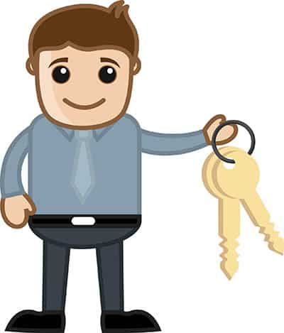 Man with House Keys
